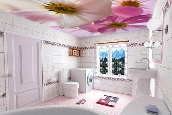 dekoratif banyo tavan