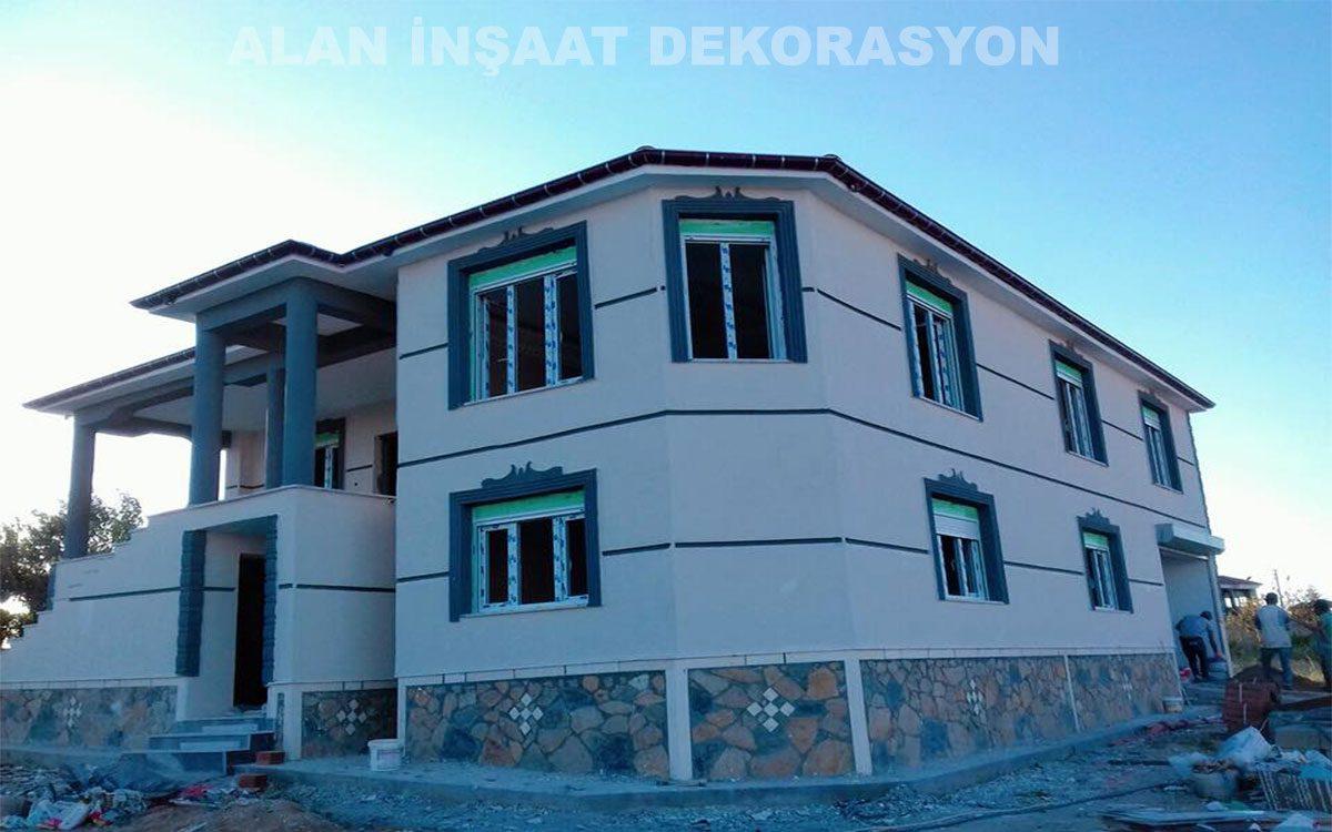 09.07.2018 (Güncel) Anahtar teslim betonarme inşaat yan cephe