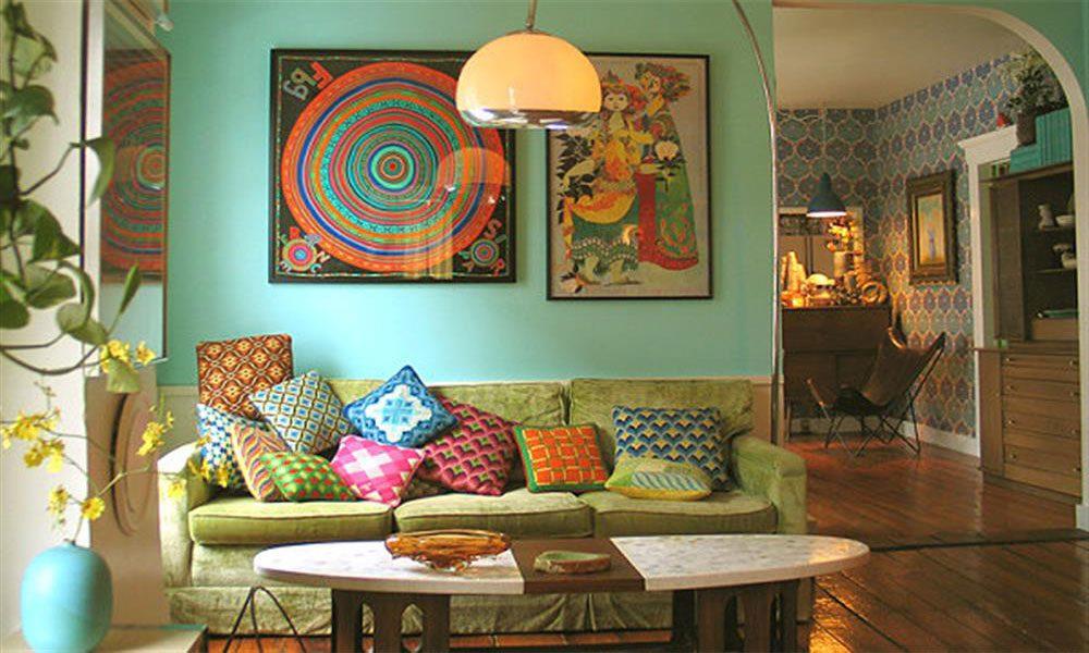 ev dekorasyonunda retro tarz