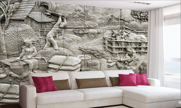 üç boyutlu taş duvar kağıdı