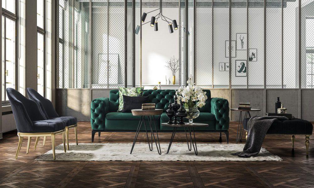 en modern ve şık oturma odası kombinleri9