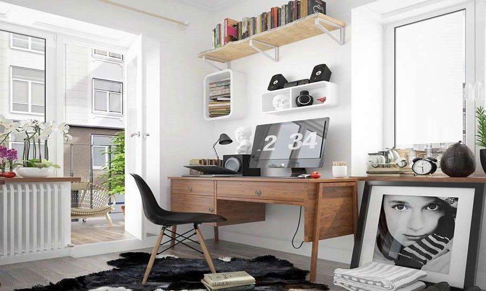 minimalist çalışma odası modeli9