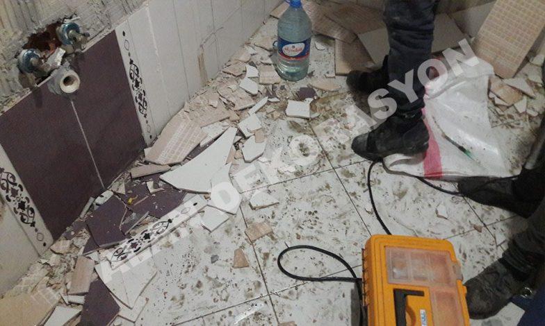 Kalebodur ve fayansları duvara zarar vermeden sökmek