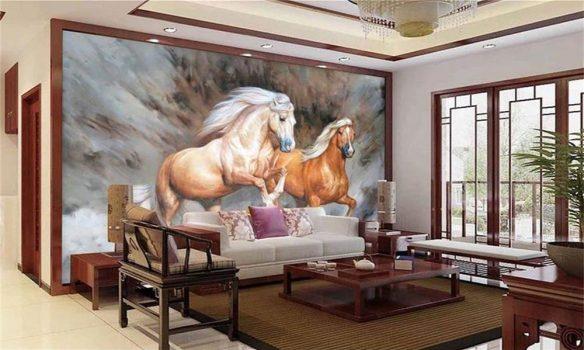 At figürlü duvar kağıtları 3