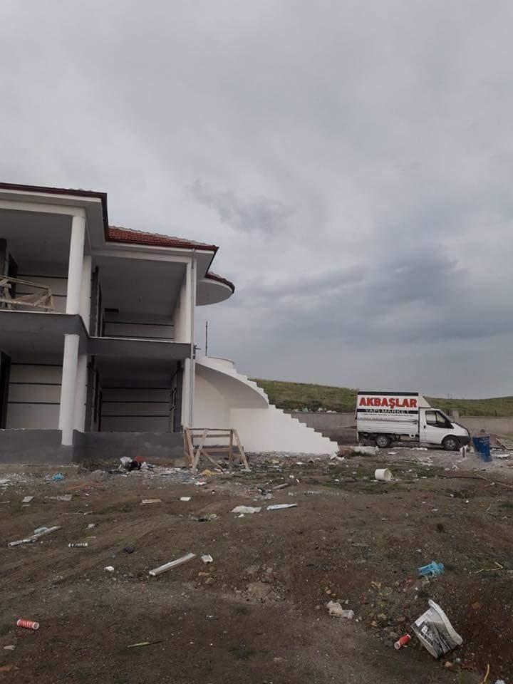 İki katlı temelden çatıya betonarme ev inşaatı çalışmamız5