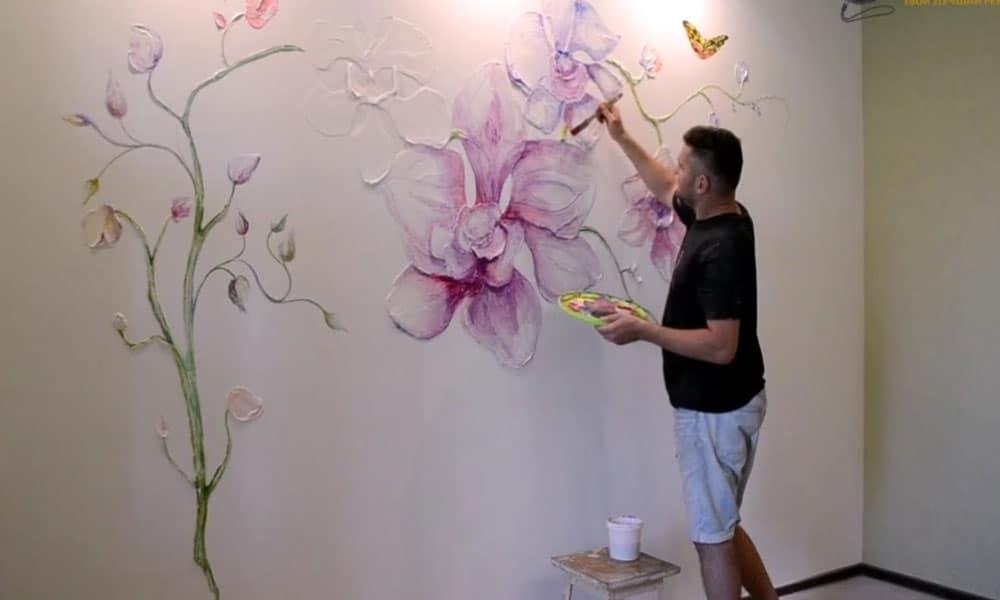 sulu boya tekniği ile duvar boyama