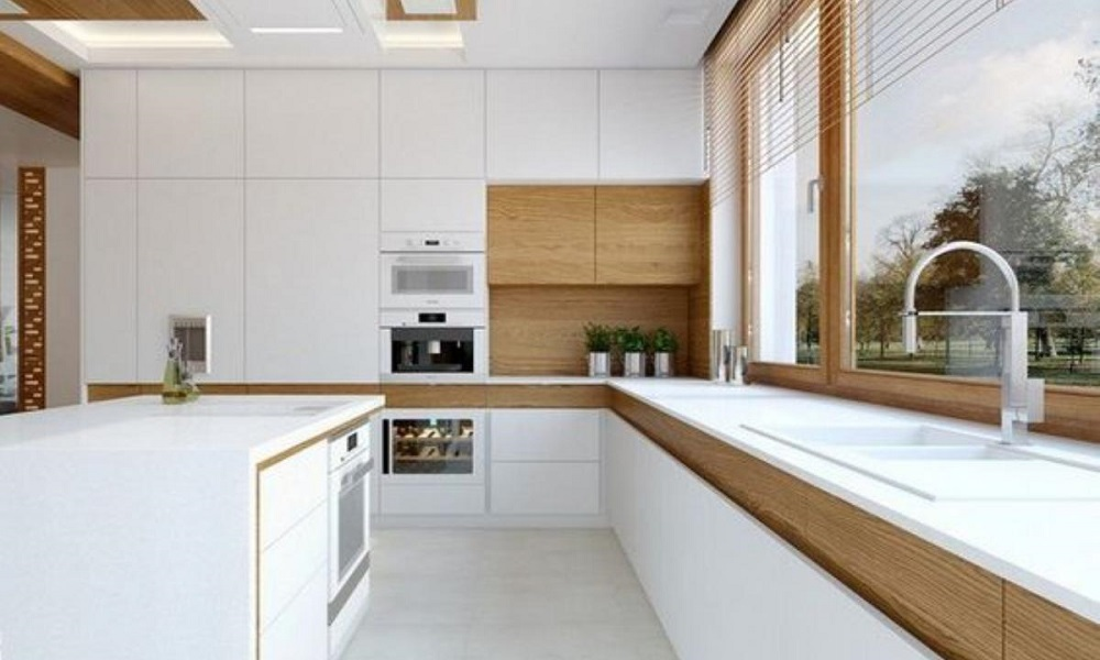 modern ahşap mutfak modeli11