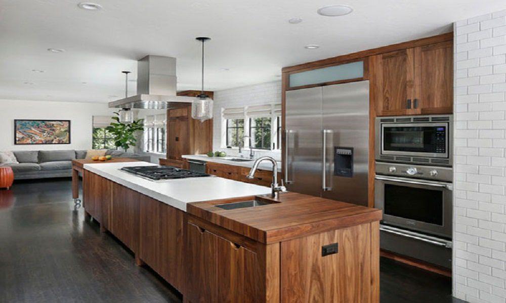 modern ahşap mutfak modeli8