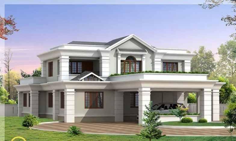 İki katlı ev ve villa modelleri 11