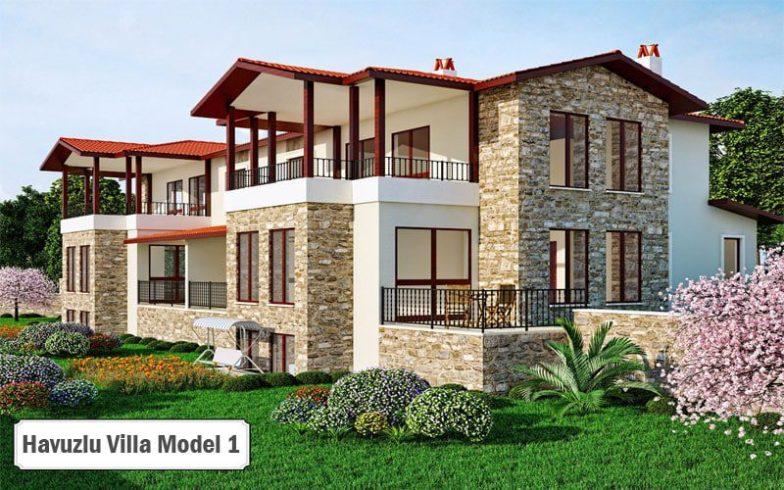 Havuzlu villa projeleri ve modelleri 1