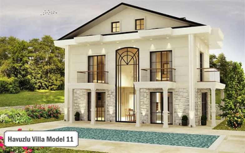 Havuzlu villa projeleri ve modelleri 11