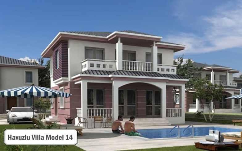 Havuzlu villa projeleri ve modelleri 14