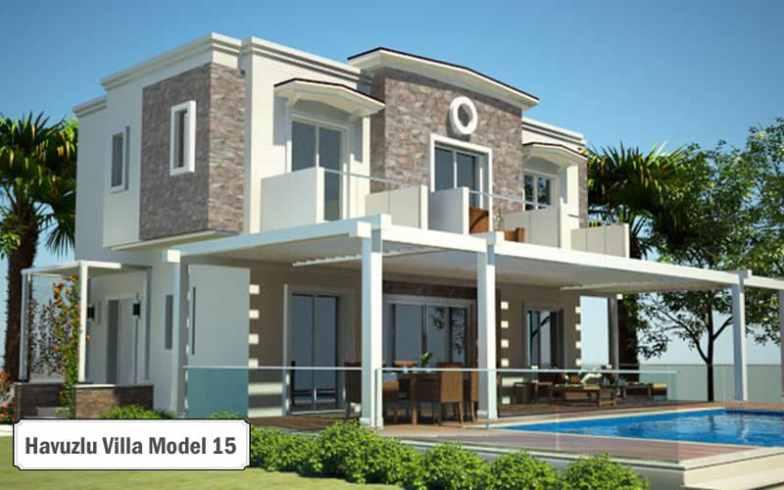 Havuzlu villa projeleri ve modelleri 15