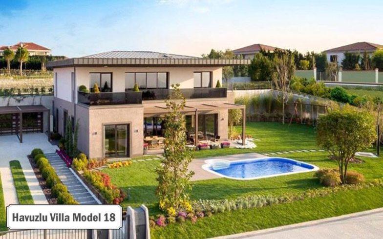 Havuzlu villa projeleri ve modelleri 18