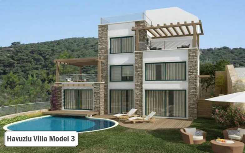 Havuzlu villa projeleri ve modelleri 3