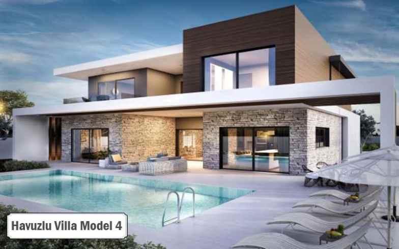 Havuzlu villa projeleri ve modelleri 4