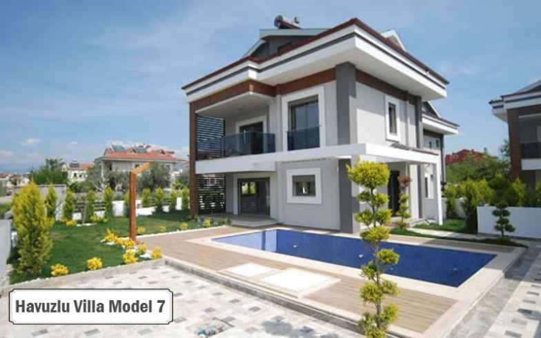 Havuzlu villa projeleri ve modelleri 7