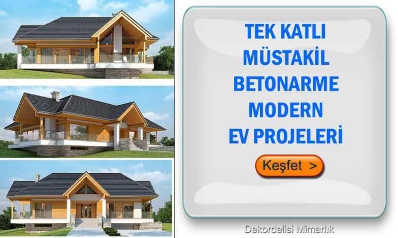 Tek katlı müstakil ev projeleri 1