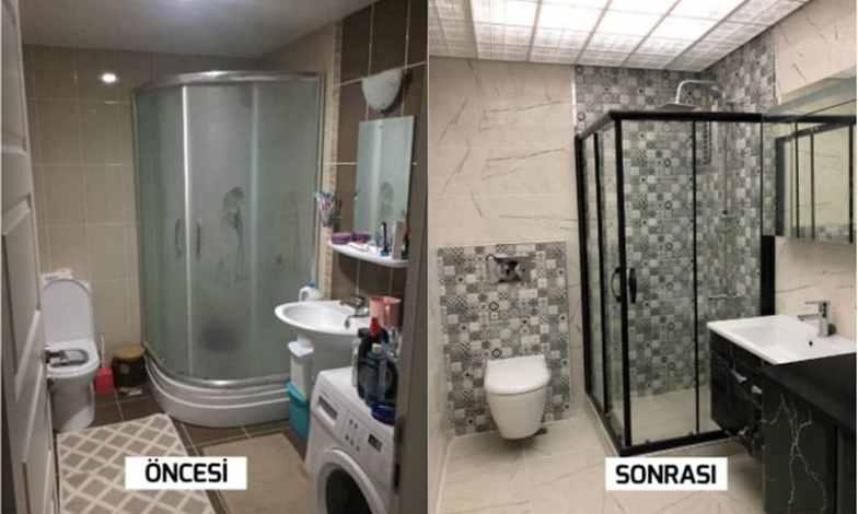 Güzel bir banyo yenileme işimiz