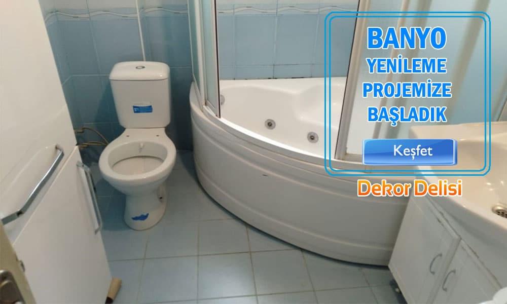 Eski banyoyu tamamen yenilemek