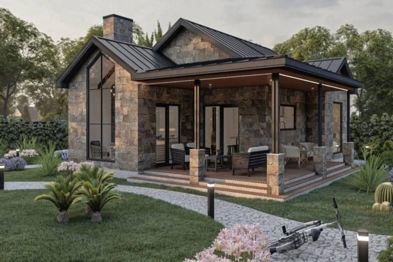 modern-tasarımlı-taş-ev