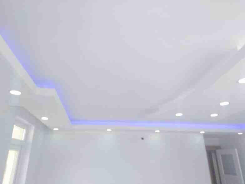 Renkli alçıpan tavan aydınlatmaları5