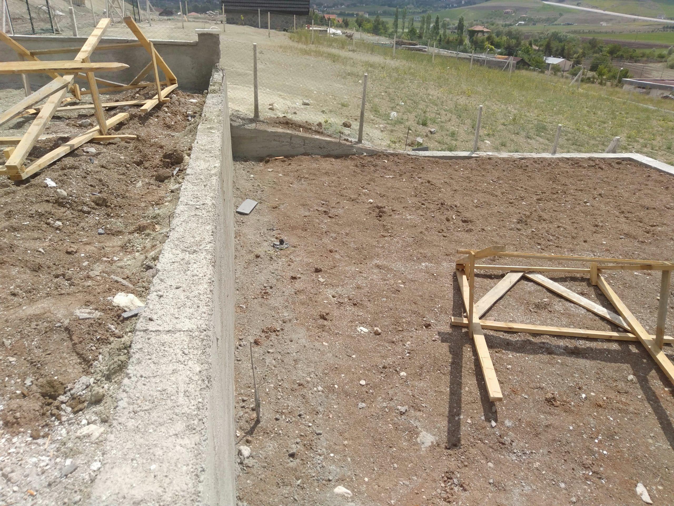 Temelden çatıya betonarme ev yaptırmak3