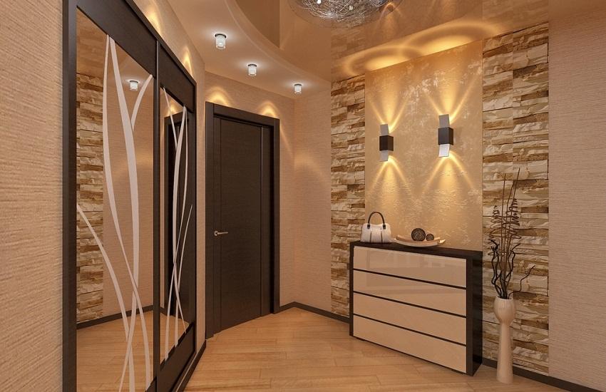 квадратный коридор в квартире дизайн фото 5