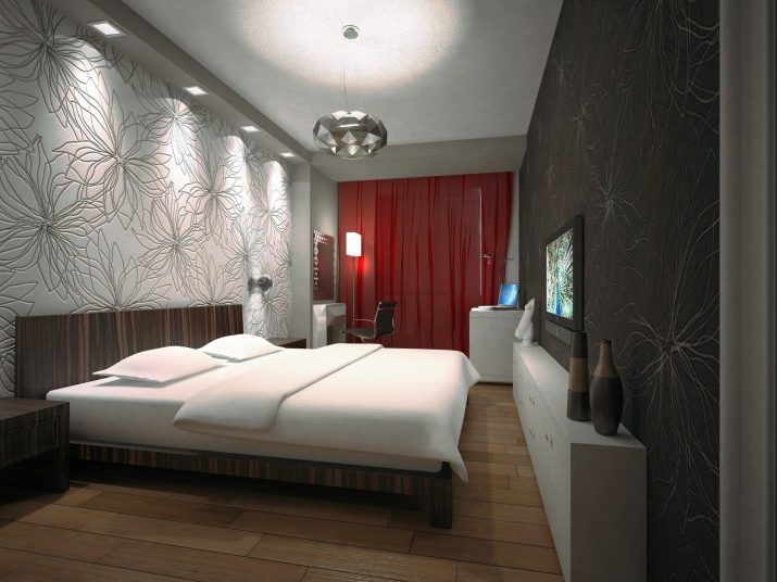 узкая длинная спальня дизайн фото 7