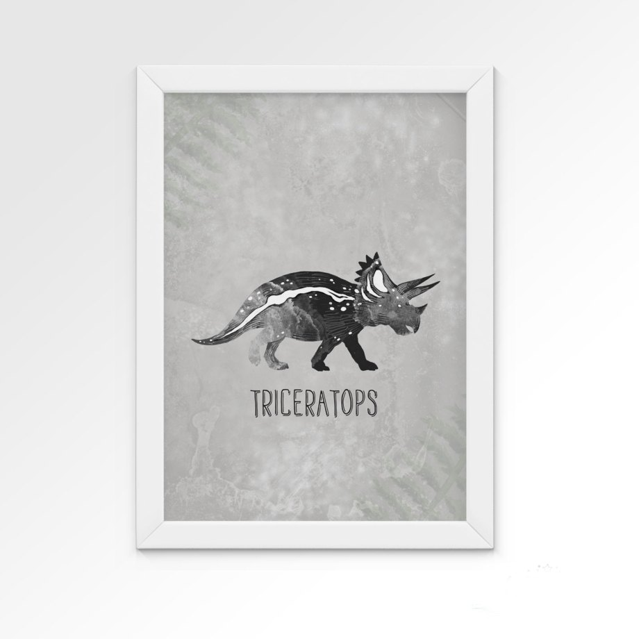 plakat-dino-triceratops-dekorillo