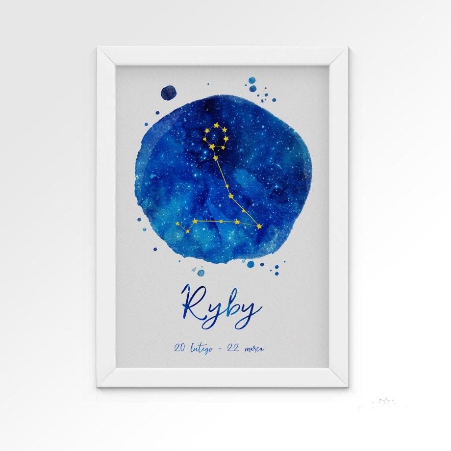 plakat-znak-zodiaku-ryby-dekorillo