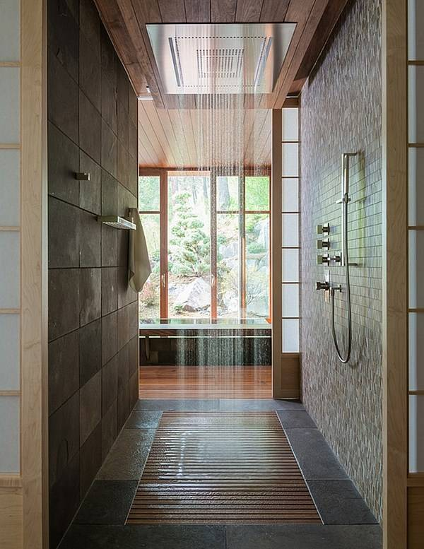 Modern shower in the house