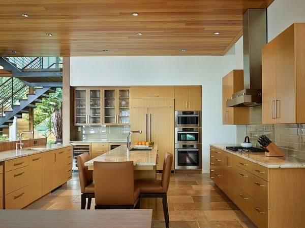 Kitchen design in a dream house