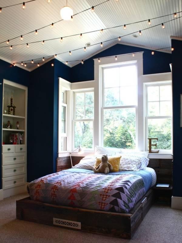 LED dize ışıklı yatak odası aydınlatması