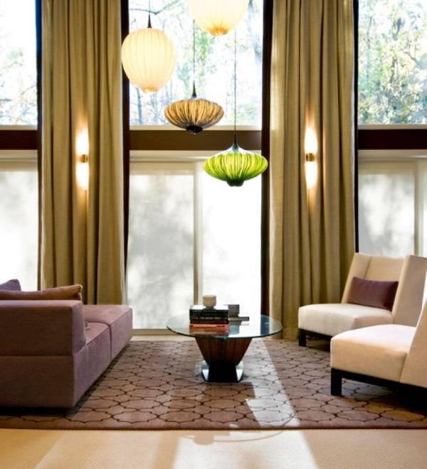 Farklı renk ve şekillerde sarkıt lambalar