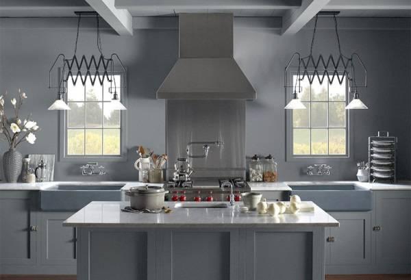 Kısılabilir ışıklı mutfak