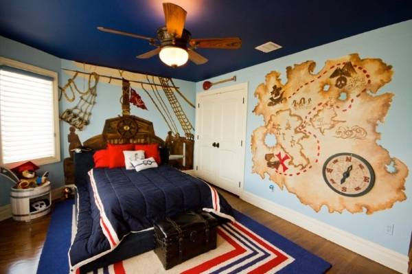 duvarlarda deniz çizimleri