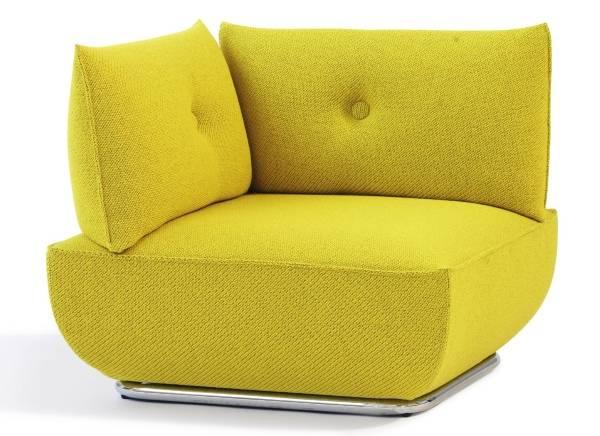 Modern tarzda sarı köşe koltuk