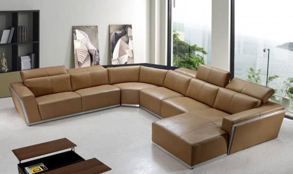 Oturma odası için köşe döşemeli mobilyalar - köşe kanepenin fotoğrafı
