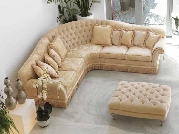 Salon fotoğrafı için klasik tarzda köşe döşemeli mobilyalar