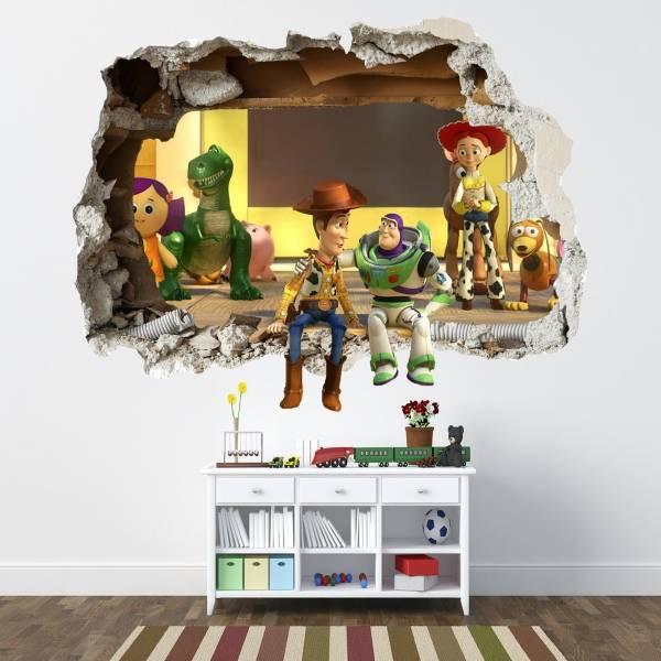 3D duvar kağıdı çıkartmaları - çocuk odası dekoru