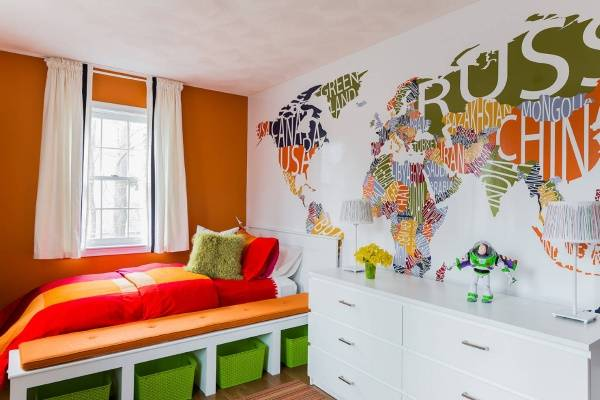 Çocuk odası için büyük duvar çıkartmaları