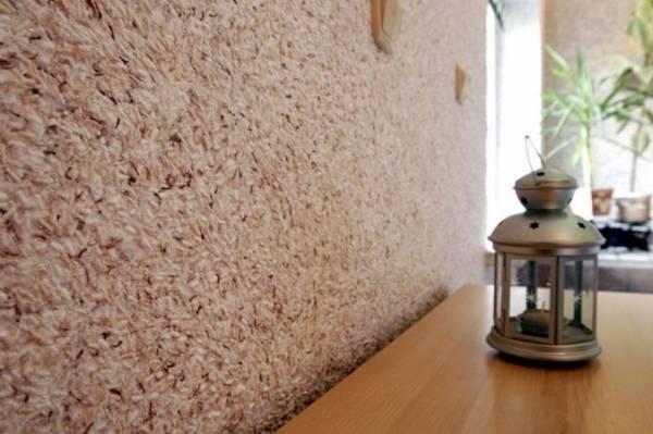 Koridorda sıvı duvar kağıdı - yakın çekim fotoğraf