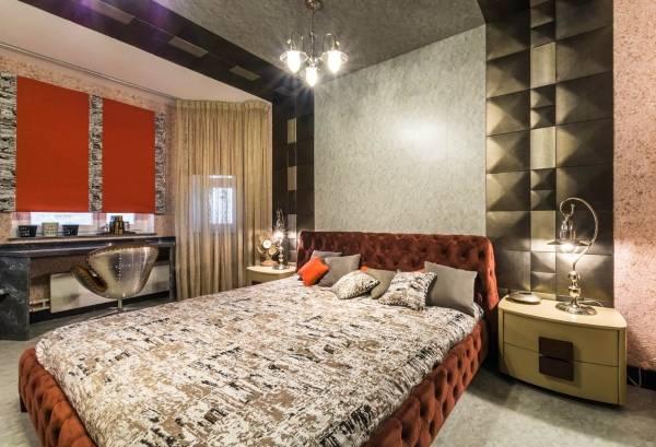 İç kısımdaki sıvı duvar kağıdı - yatak odası fotoğrafı