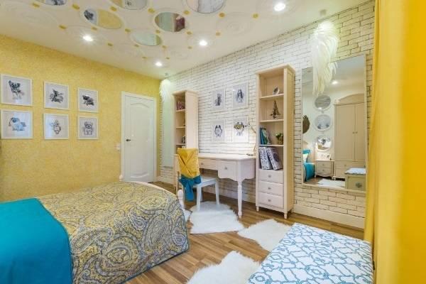 Sarı sıvı duvar kağıdı - yatak odası sanat tasarımı