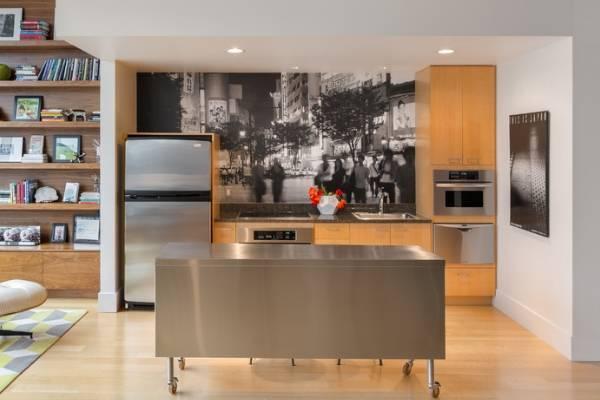 Mutfak için siyah beyaz duvar kağıdı - fotoğraf 2017 modern fikirler