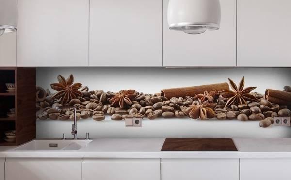 Mutfak Kahve için duvar kağıdı - fotoğraf 2017 modern fikirler