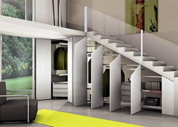 merdivenlerin altında dolap tasarımı, fotoğraf 7