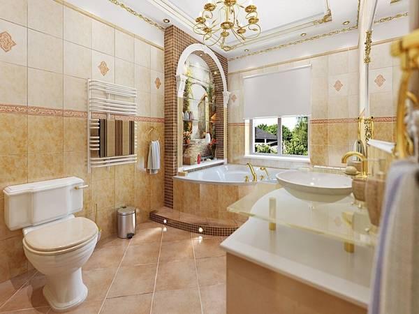 klasik tarzda banyo tasarımı, fotoğraf 9