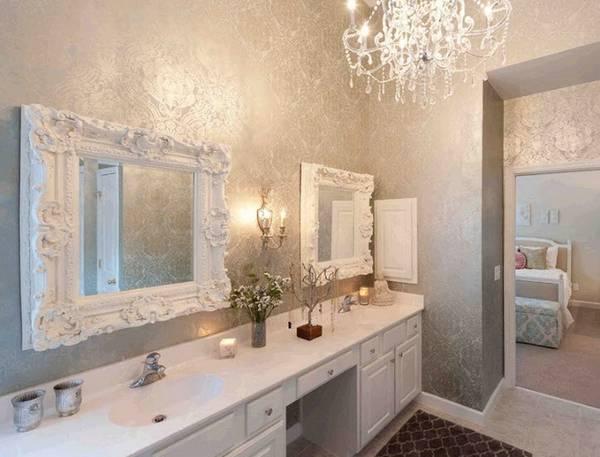 klasik tarzda banyoda avize, fotoğraf 18